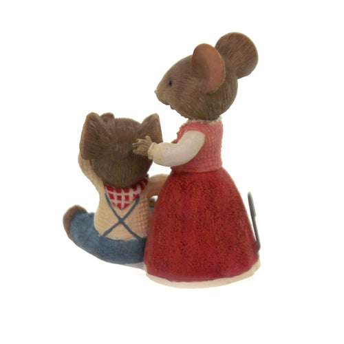 Figurine JACK & JILL MOUSE Polyresin Tails With Heart 6005746