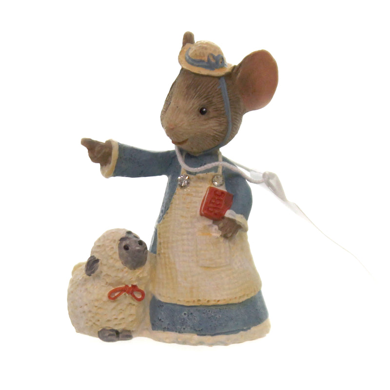 Figurine MARY HAD A LITTLE LAMB MOUSE Polyresin Tails With Heart 6005747