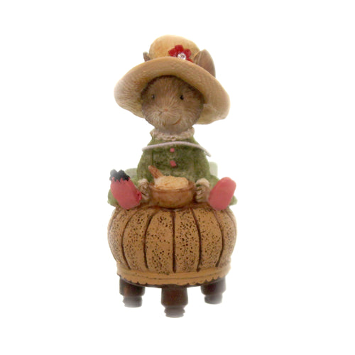 Figurine LITTLE MISS MUFFETT MOUSE Polyresin Tails With Heart 6005748