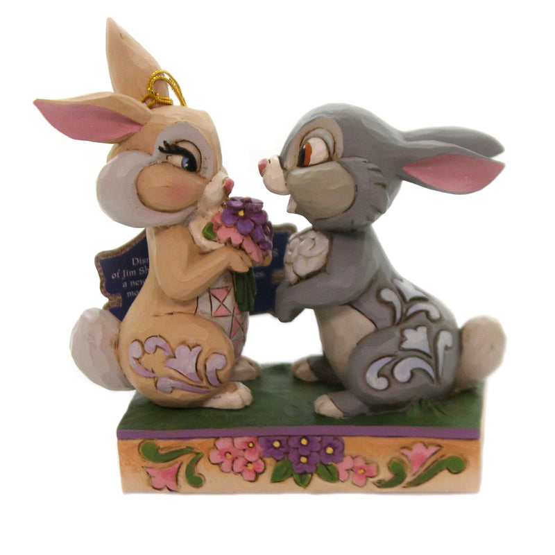 Jim Shore BUNNY BOUQUET Polyresin Thumper & Blossom 6005963
