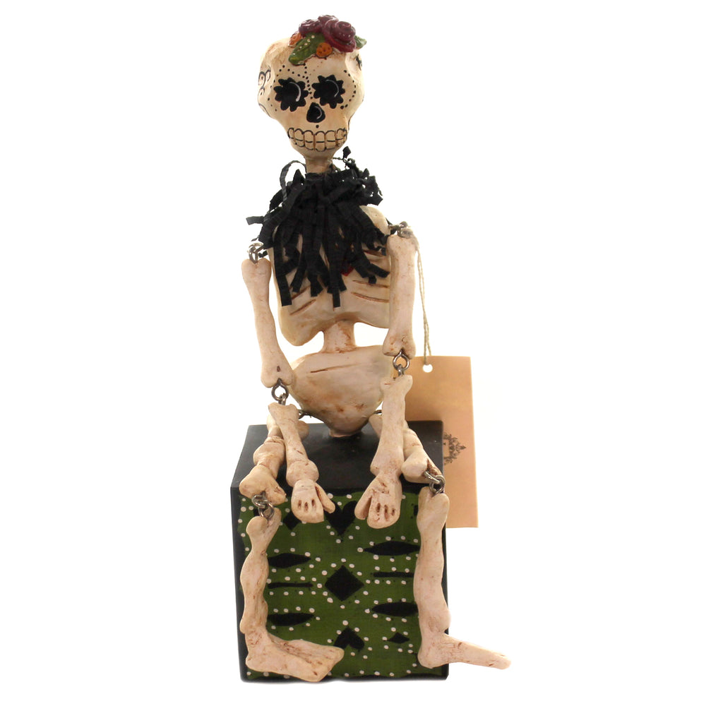 Halloween A. CATRINA Polyresin Skeleton Bones Day Of The Dead 72096