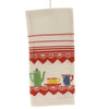 Tabletop DECO GOOD MORNING KITCHEN TOWEL Fabric Mcm Flour Sack 100% Cotton Vl68