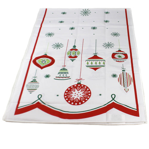 Tabletop SHINY BRITE CHRISTMAS RUNNER Vintage Ornament 100% Cotton Cr0100r