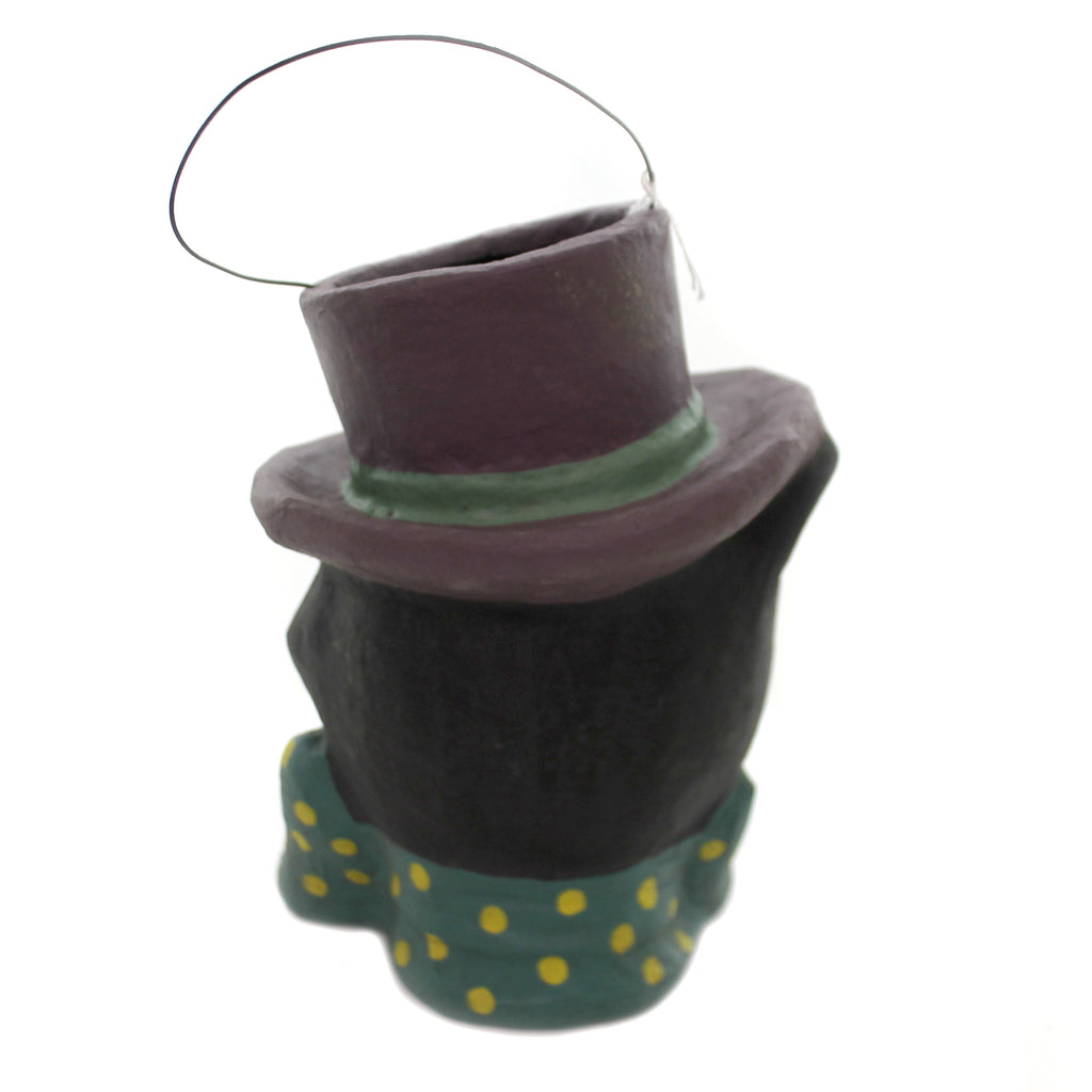 Halloween BOW TIE BLACK CAT CANDY BUCKET Retro Vintage Monocle Top Hat Pm842