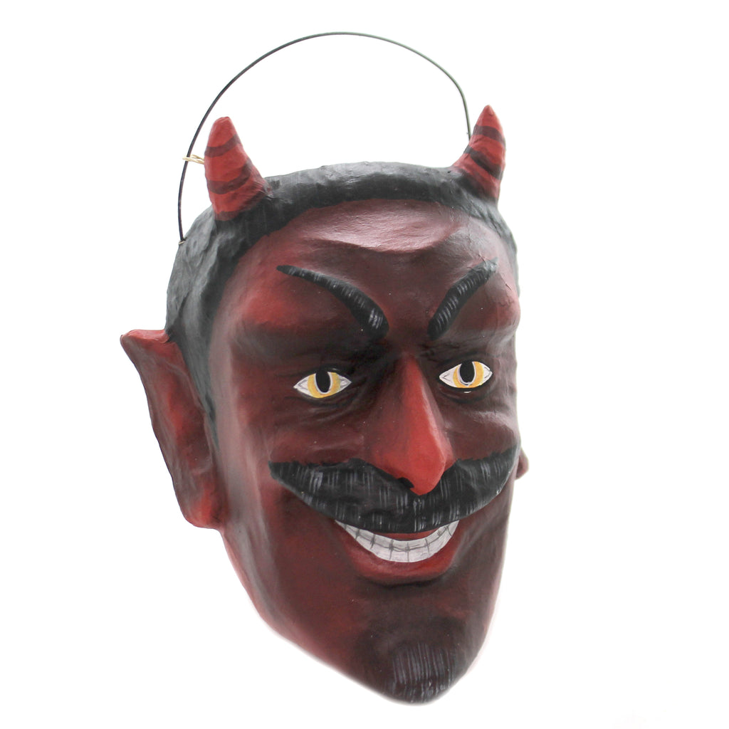 Halloween MISCHIEVOUS DEVIL BUCKET Paper Mache Retro Vintage Ms1014