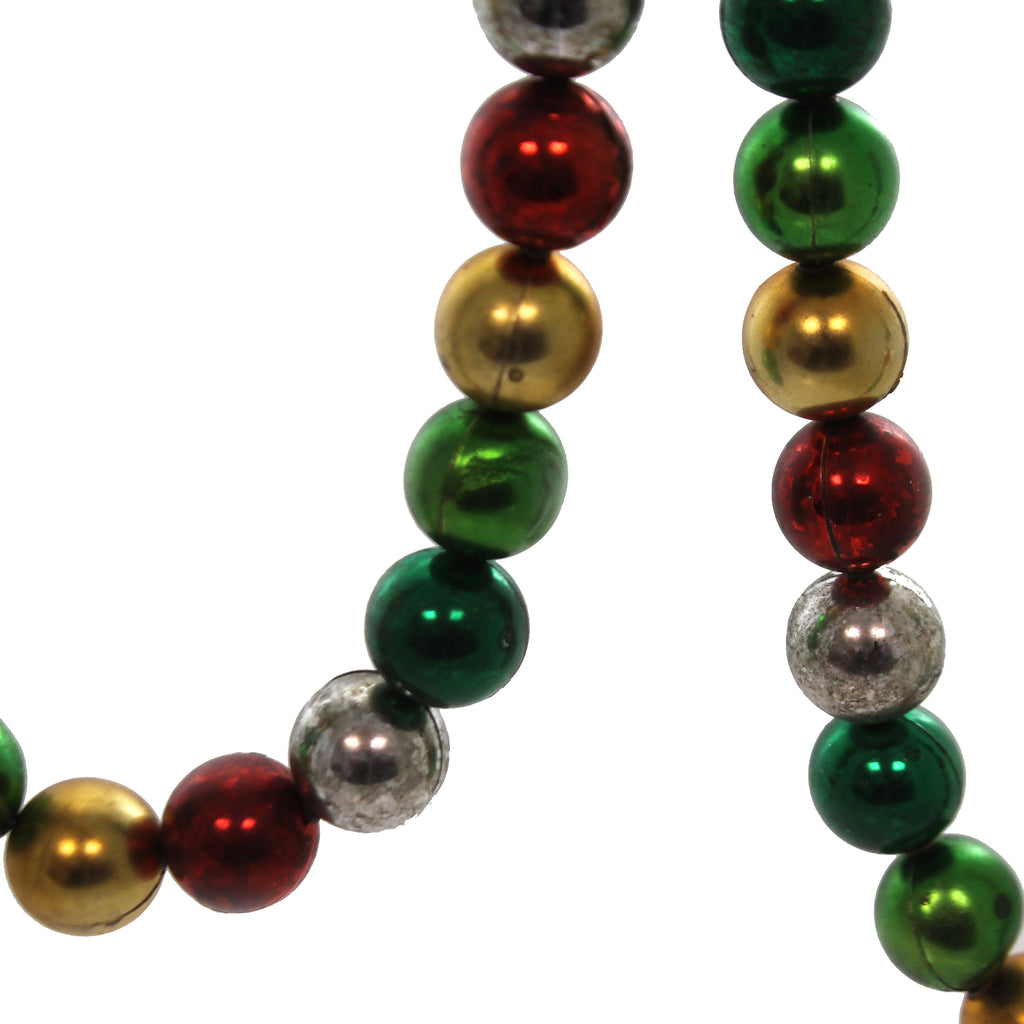 Christmas MULTI COLORED BALL GARLAND Christmas Tree Red Green Silver Cd0138m