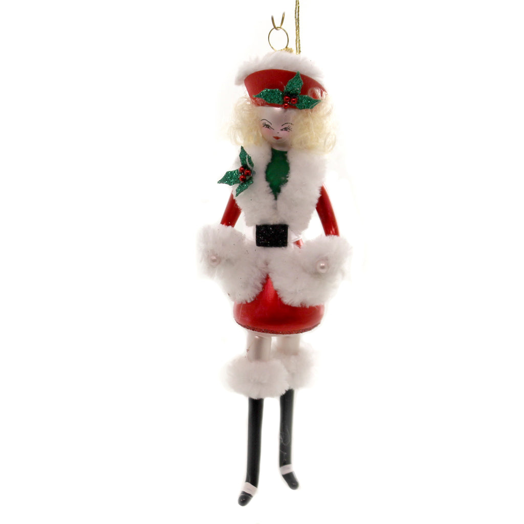 De Carlini NORTH POLE LADY Glass Italian Christmas Do7173