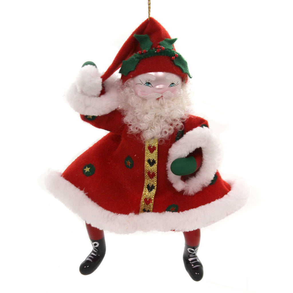 De Carlini DANCING SANTA Glass Italian Christmas Bn363