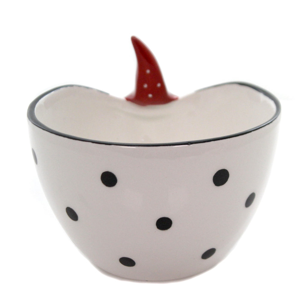 Tabletop PEEK-A-BOO SANTA BOWL Ceramic Christmas 28517