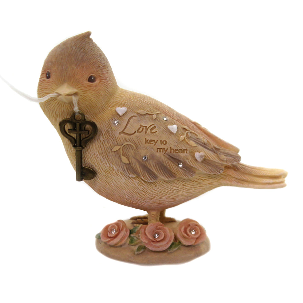 Foundations LOVE BIRD Polyresin Key To My Heart 6005236