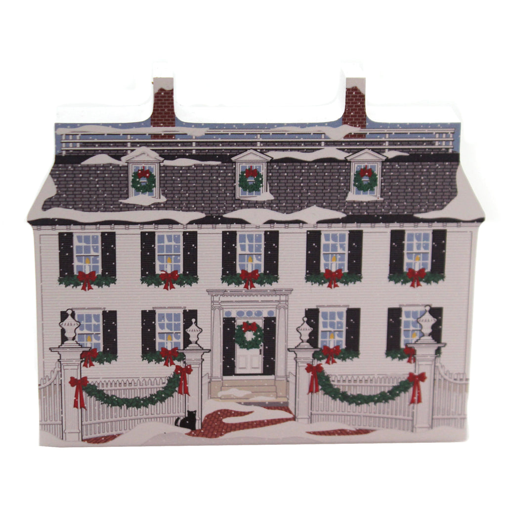 Cats Meow Village ROPES MANSION SALEM CHRISTMAS Wood Colonial 19532