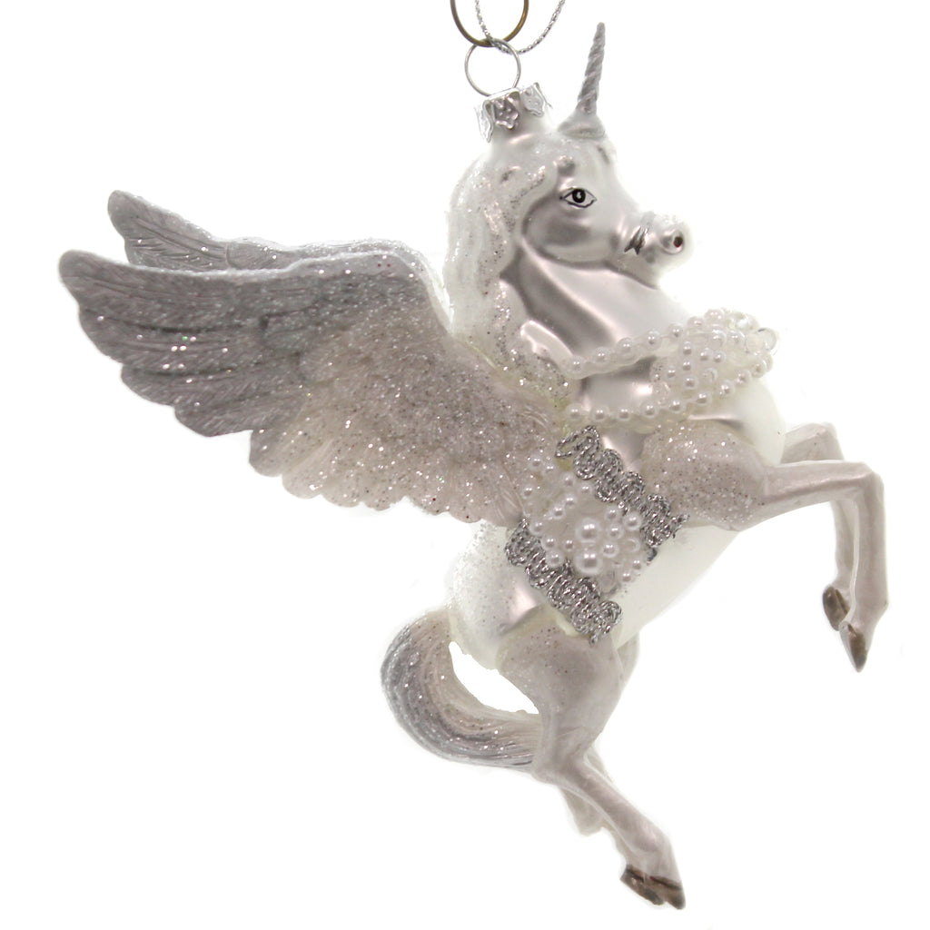 Holiday Ornaments UNICORN Glass Flight Wings Horn Christmas Td1624