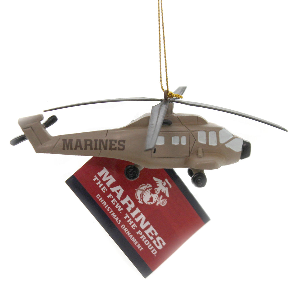 Holiday Ornaments MARINE HELICOPTER Polyresin Ornament Military USMC Mc2191