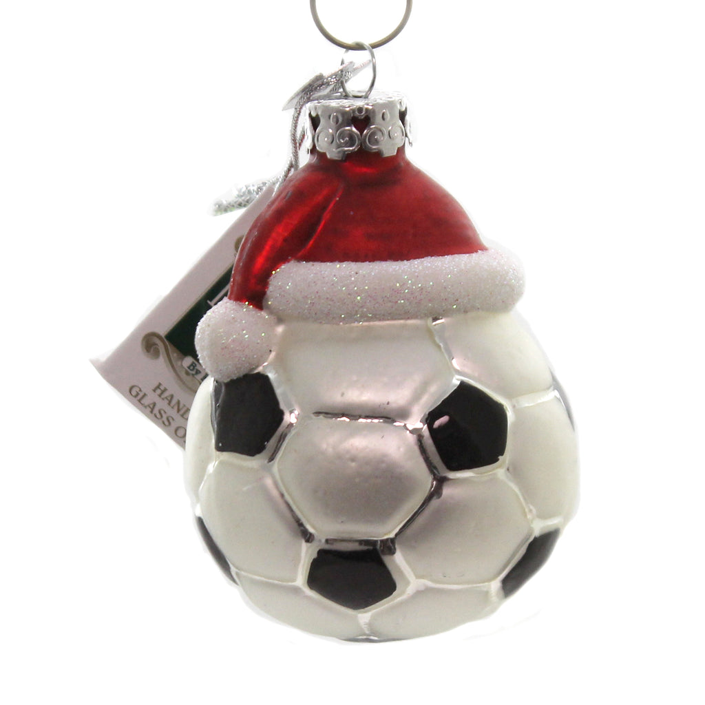 Noble Gems SOCCER BALL w/ SANTA HAT Glass Christmas World Cup MLS Team Nb0285