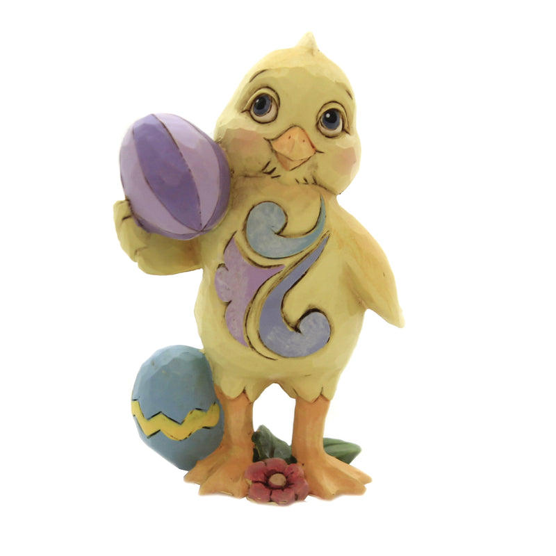 Jim Shore MINI CHICK WITH EASTER EGG Polyresin Hand Painted 6006229