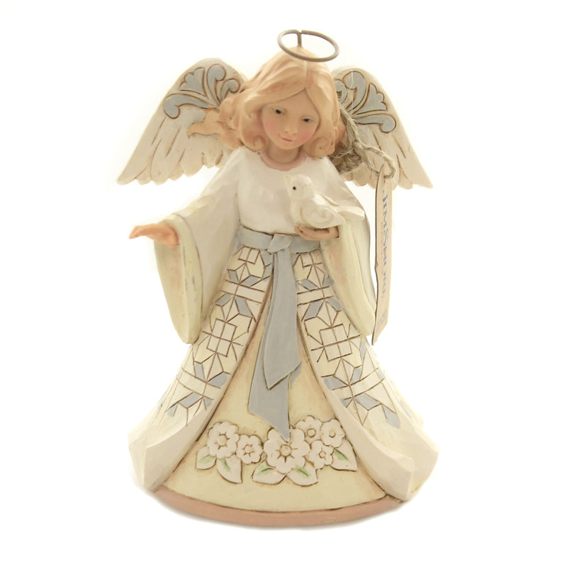 Jim Shore BEAUTIFUL PEACE Polyresin White Woodland Angel 6004764