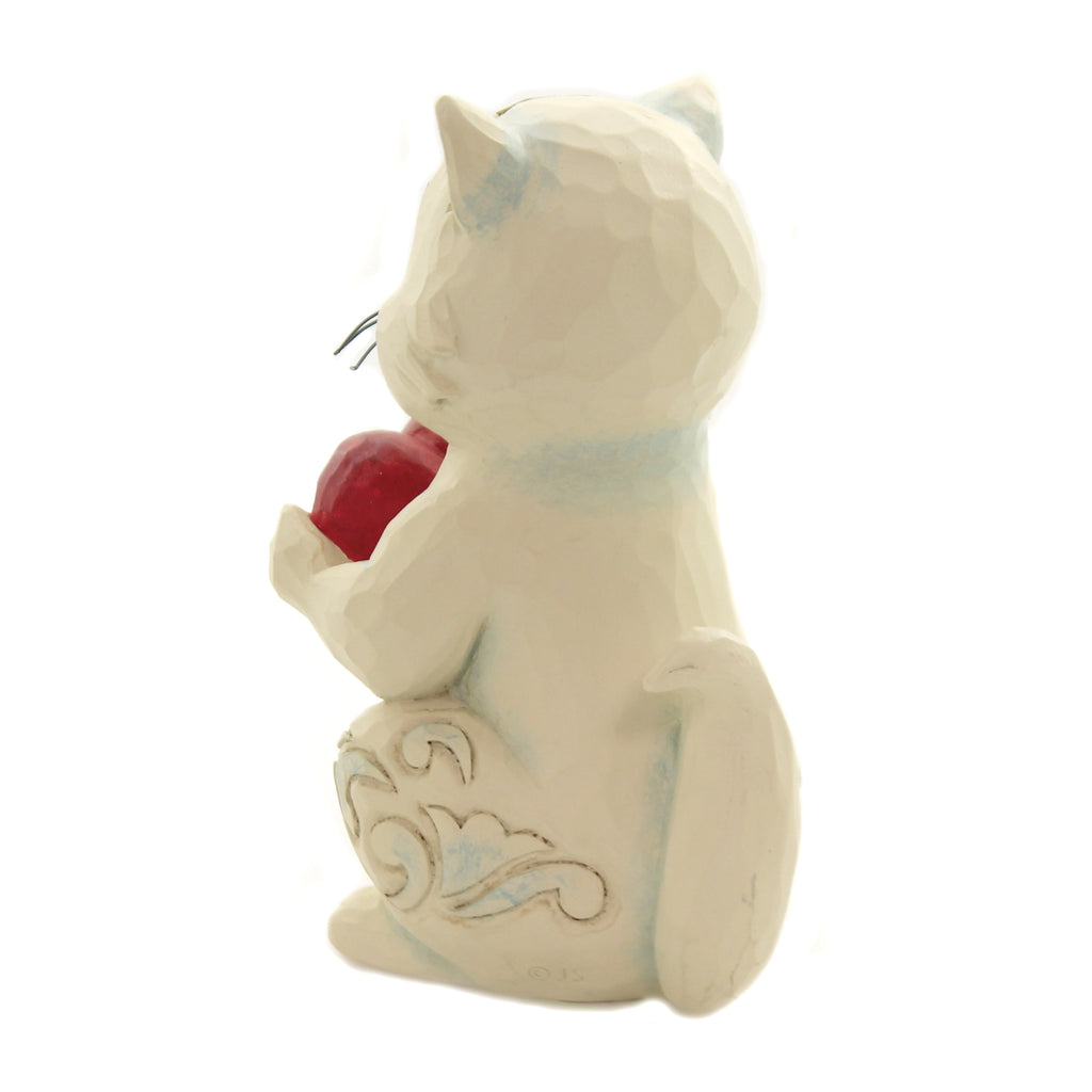 Jim Shore PURR-FECTLY LOVED Polyresin Valentine Heartwood Creek 6006225