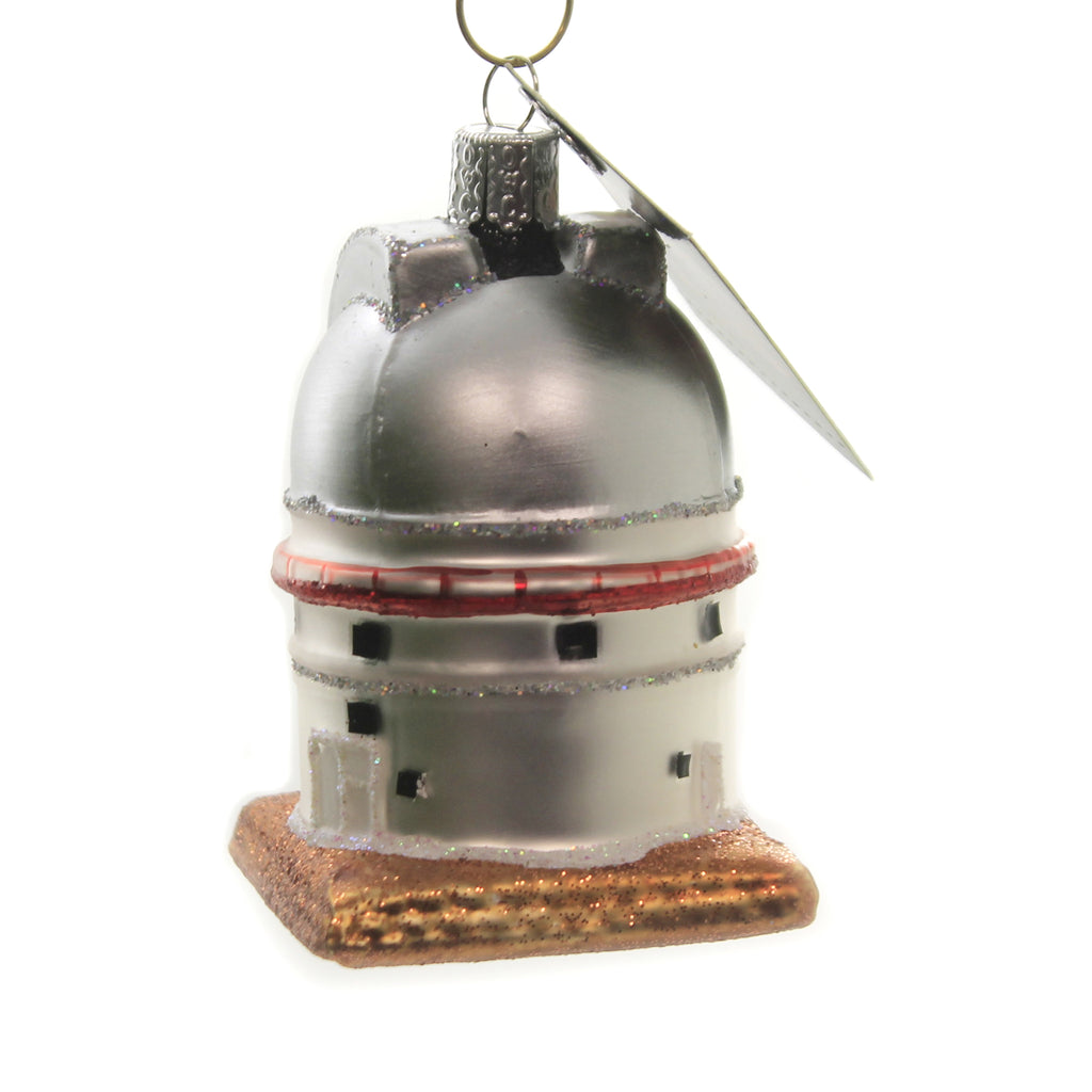 Old World Christmas OBSERVATORY Glass Ornament Astronomer Space Orbit 20107