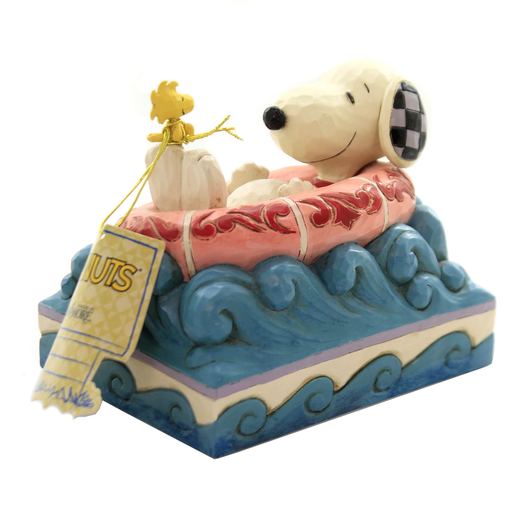 Jim Shore FLOAT AWAY Polyresin Snoopy Woodstock 6005942