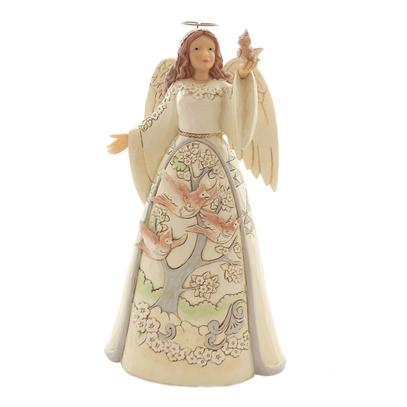 White Woodland Angel W/Cardinal 6004767 Jim Shore Figurines - SBKGIFTS.COM - SBK Gifts Christmas Shop Cincinnati - Story Book Kids