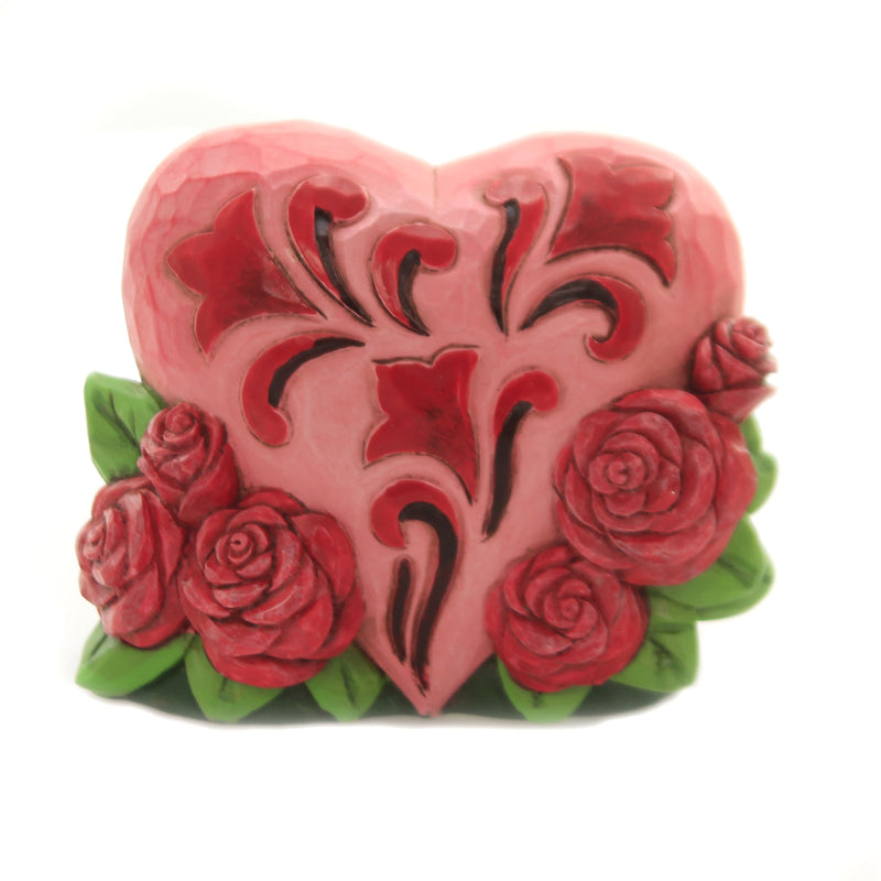 Mini Heart With Roses 6006226 Jim Shore Figurines - SBKGIFTS.COM - SBK Gifts Christmas Shop Cincinnati - Story Book Kids