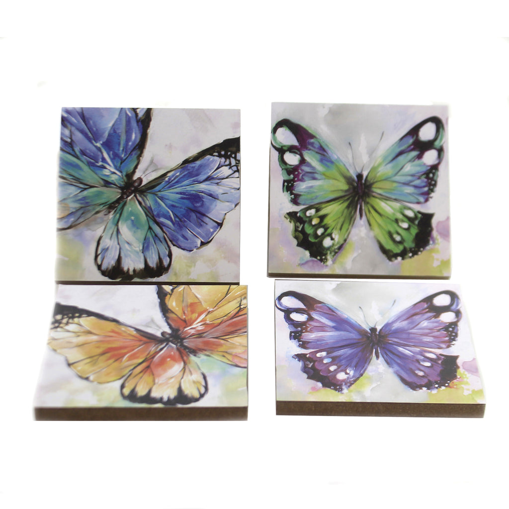 Butterfly Gallery Coasters Er65105 Tabletop Coasters - SBKGIFTS.COM - SBK Gifts Christmas Shop Cincinnati - Story Book Kids