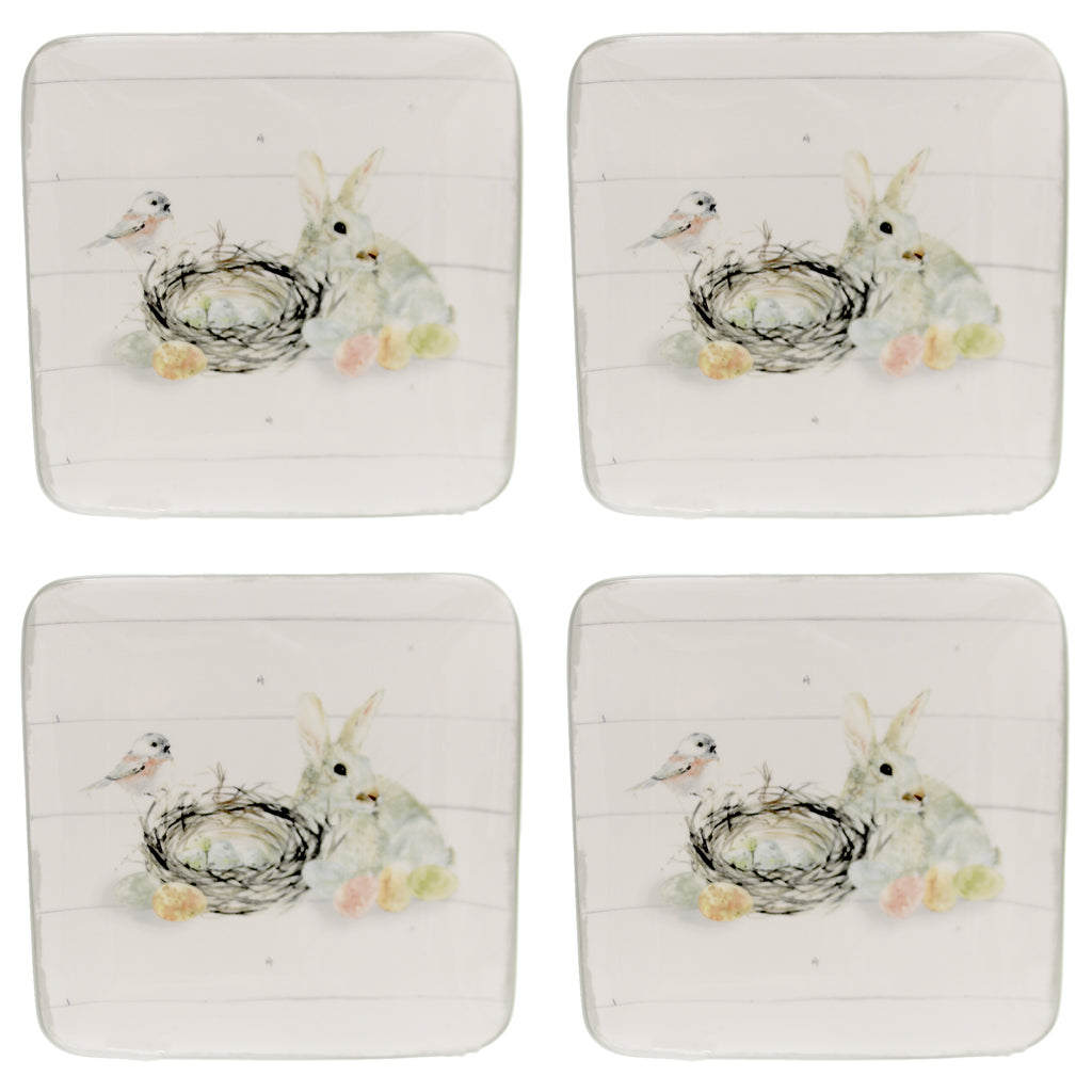 Farmhouse Spring Salad Plates 146452 Tabletop Plates And Platters - SBKGIFTS.COM - SBK Gifts Christmas Shop Cincinnati - Story Book Kids