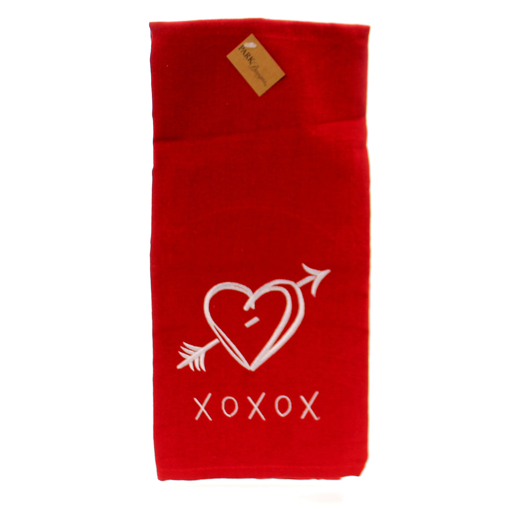 Xoxo Embroidered Dishtowel 73256 Tabletop Decorative Towels - SBKGIFTS.COM - SBK Gifts Christmas Shop Cincinnati - Story Book Kids