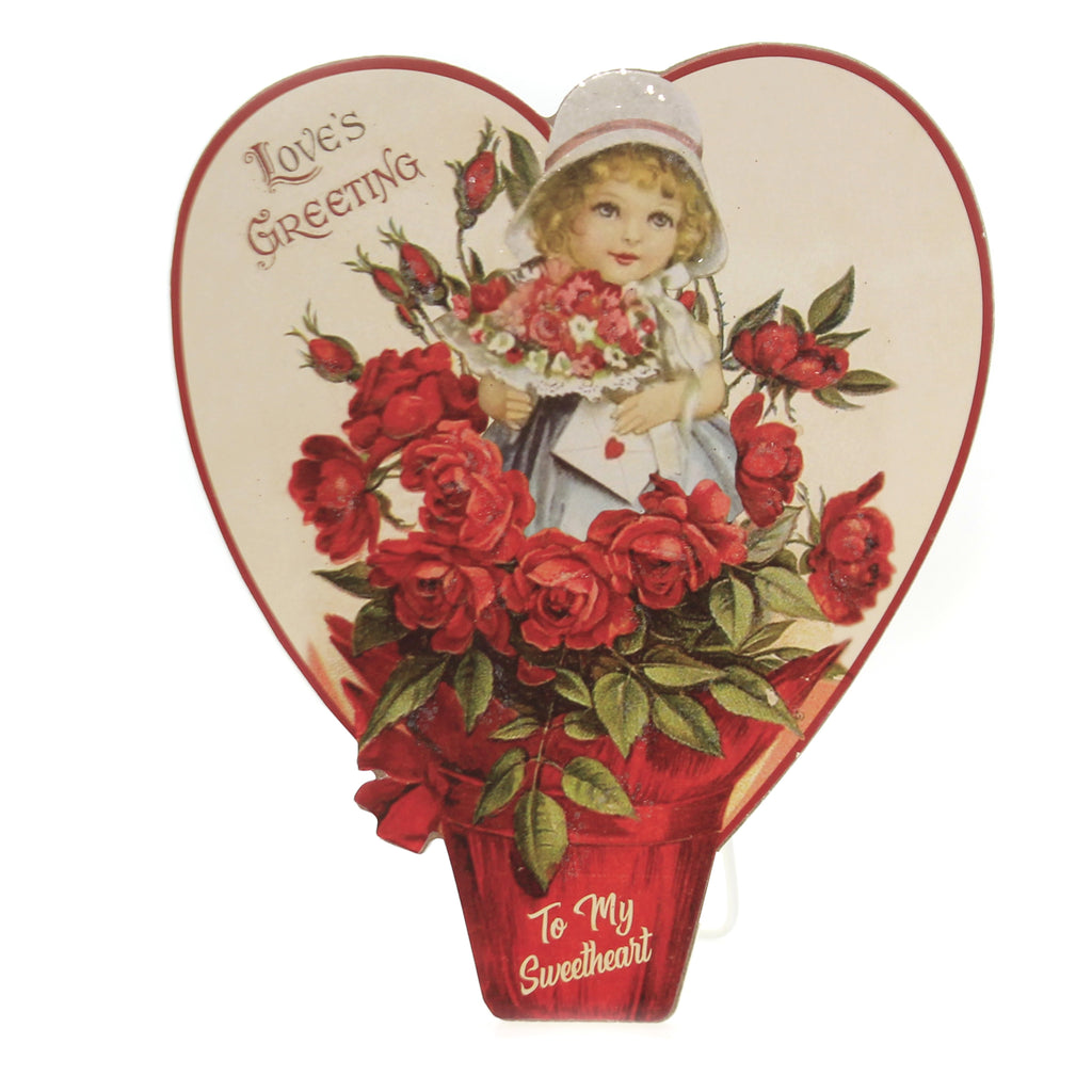 Valentine's Day LOVE'S BLOOM DUMMY BOARD Wood Sweetheart Rl9788