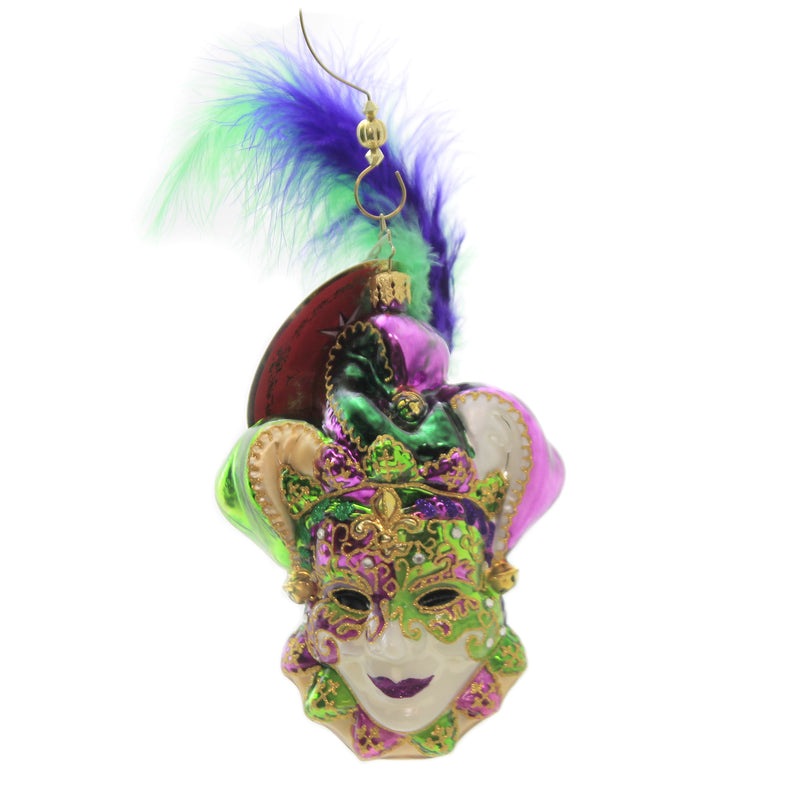 Christopher Radko MARDI-MASQUERADE Glass Mask Christmas 1017779