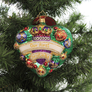 Evergreen Is My Heart 1019519 Glass Ornaments - SBKGIFTS.COM - SBK Gifts Christmas Shop Cincinnati - Story Book Kids