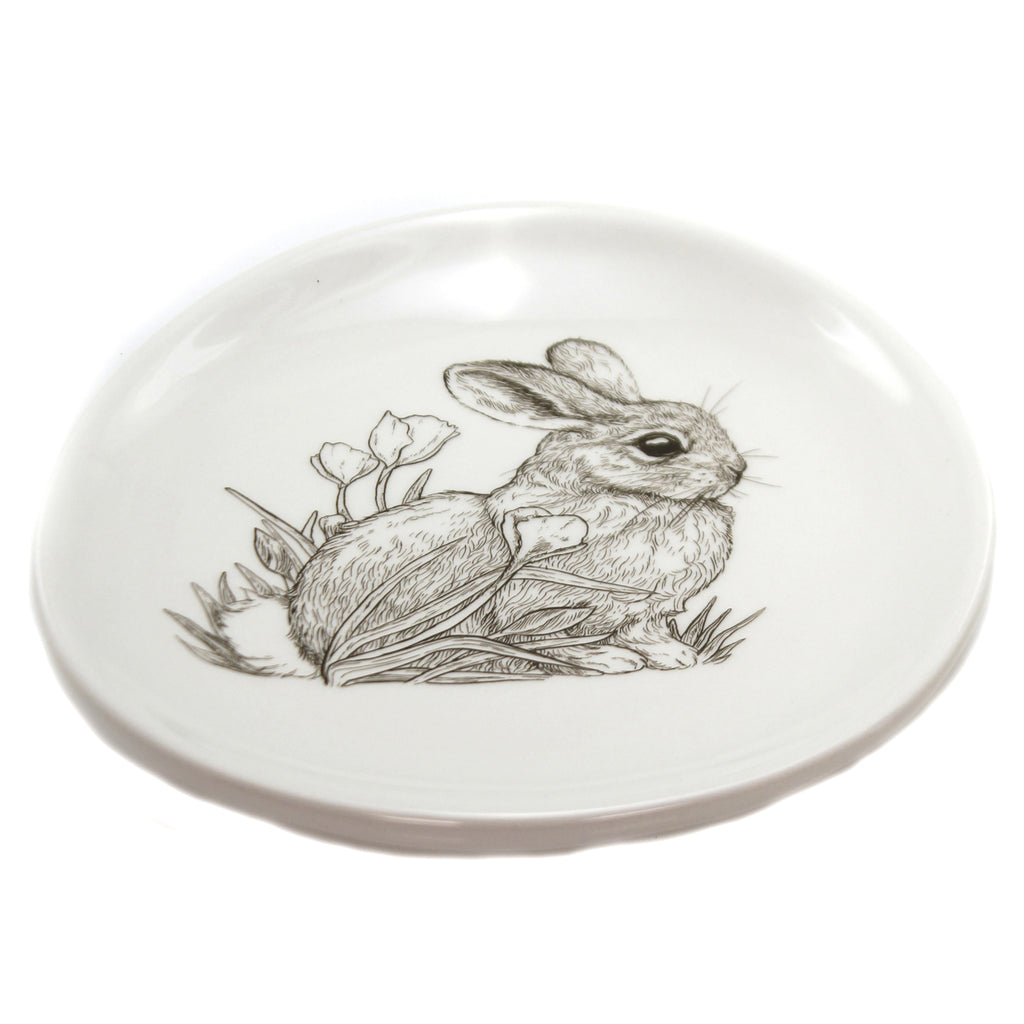 Sitting Bunny Plate 181297 Tabletop Plates And Platters - SBKGIFTS.COM - SBK Gifts Christmas Shop Cincinnati - Story Book Kids
