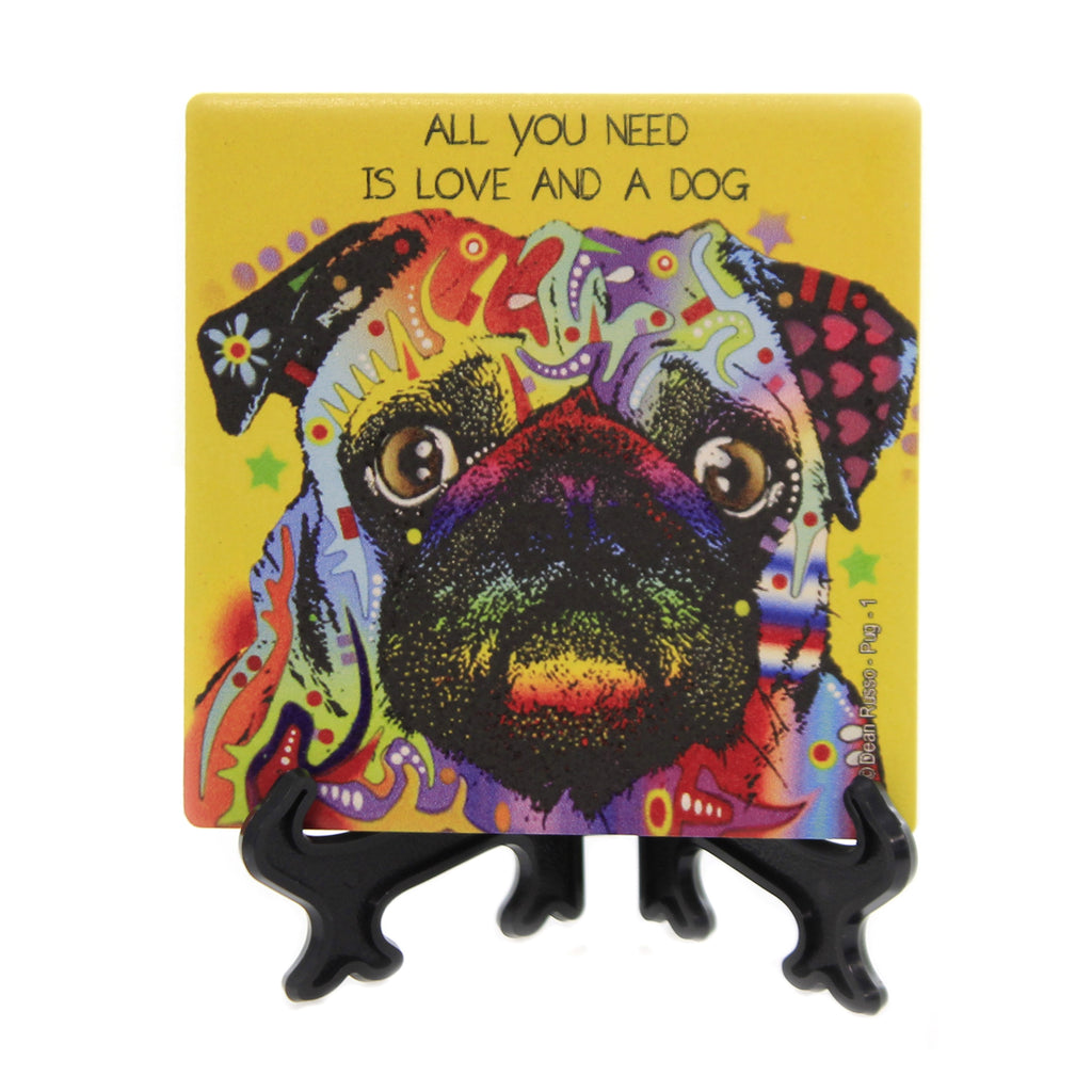 Pug Coaster 78436 Animal Pet Lover Gifts - SBKGIFTS.COM - SBK Gifts Christmas Shop Cincinnati - Story Book Kids