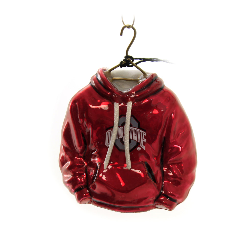 Scarlet Osu Hoodie Zkp2590osu Joy To The World Glass Ornaments - SBKGIFTS.COM - SBK Gifts Christmas Shop Cincinnati - Story Book Kids