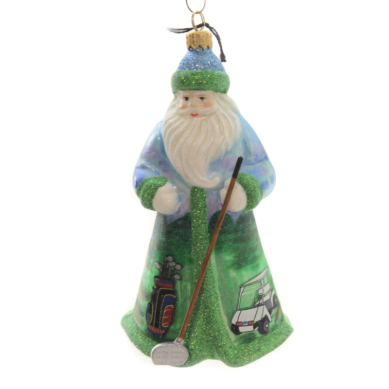 Golfing Santa Zkp4511golf Joy To The World Glass Ornaments - SBKGIFTS.COM - SBK Gifts Christmas Shop Cincinnati - Story Book Kids