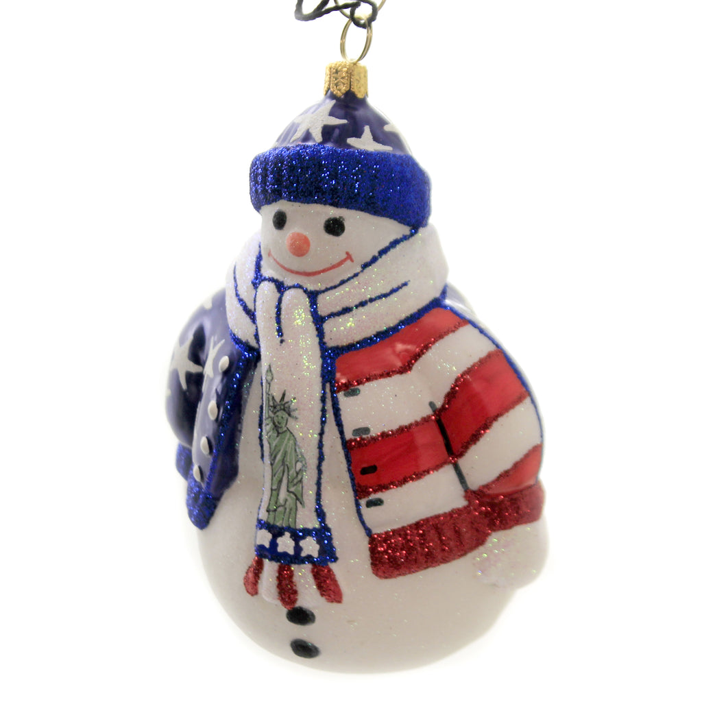 Land Of The Free Snowman Zkp4198free Joy To The World Glass Ornaments - SBKGIFTS.COM - SBK Gifts Christmas Shop Cincinnati - Story Book Kids