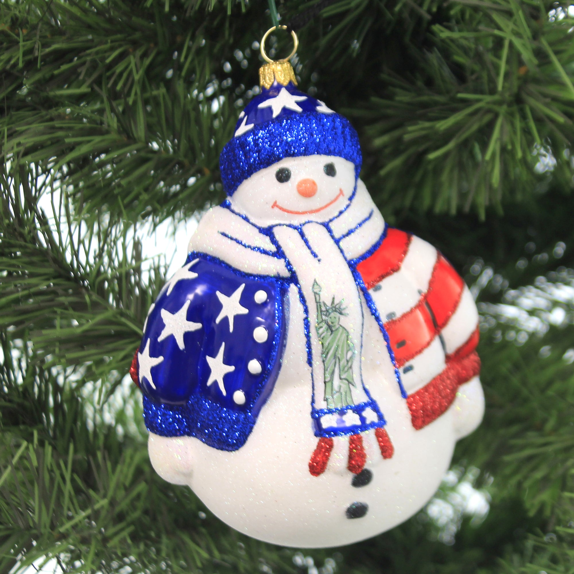 Joy To The World Land Of The Free Snowman Zkp4198free Decorative Hanging Ornaments Sbk Gifts Sbkgifts Com