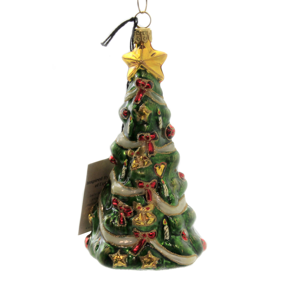 O Christmas Tree W/ Train Zkp4508 Joy To The World Glass Ornaments - SBKGIFTS.COM - SBK Gifts Christmas Shop Cincinnati - Story Book Kids