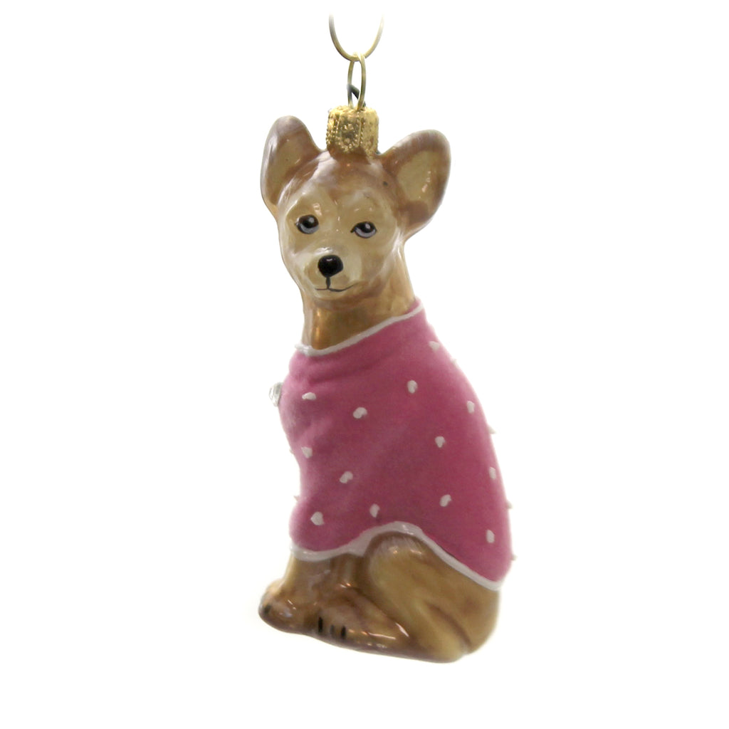 Chihuahua Zkp3045pkv Joy To The World Glass Ornaments - SBKGIFTS.COM - SBK Gifts Christmas Shop Cincinnati - Story Book Kids