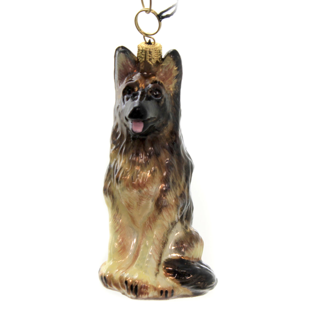 German Shepherd Zkp1784br Joy To The World Glass Ornaments - SBKGIFTS.COM - SBK Gifts Christmas Shop Cincinnati - Story Book Kids