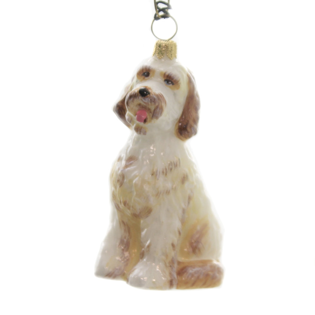 Goldendoodle Zkp3356 Joy To The World Glass Ornaments - SBKGIFTS.COM - SBK Gifts Christmas Shop Cincinnati - Story Book Kids