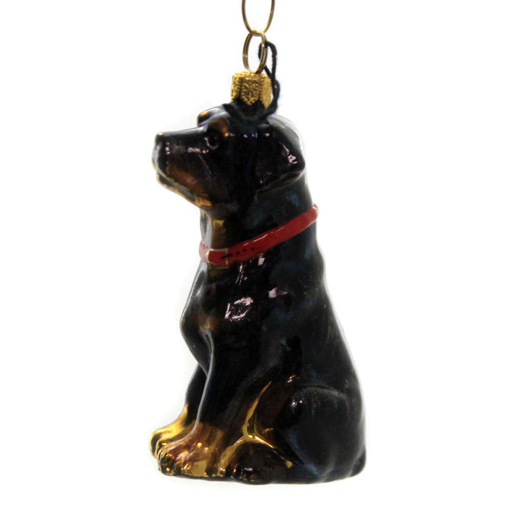 Rottweiler Zkp3825 Joy To The World Glass Ornaments - SBKGIFTS.COM - SBK Gifts Christmas Shop Cincinnati - Story Book Kids