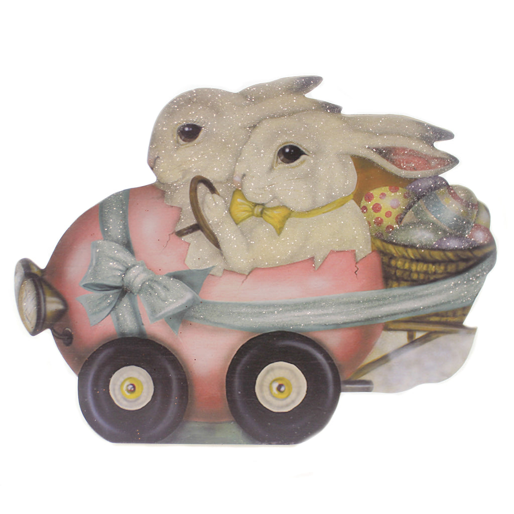 Rabbit Roadster Bb8825 Easter Figurines - SBKGIFTS.COM - SBK Gifts Christmas Shop Cincinnati - Story Book Kids