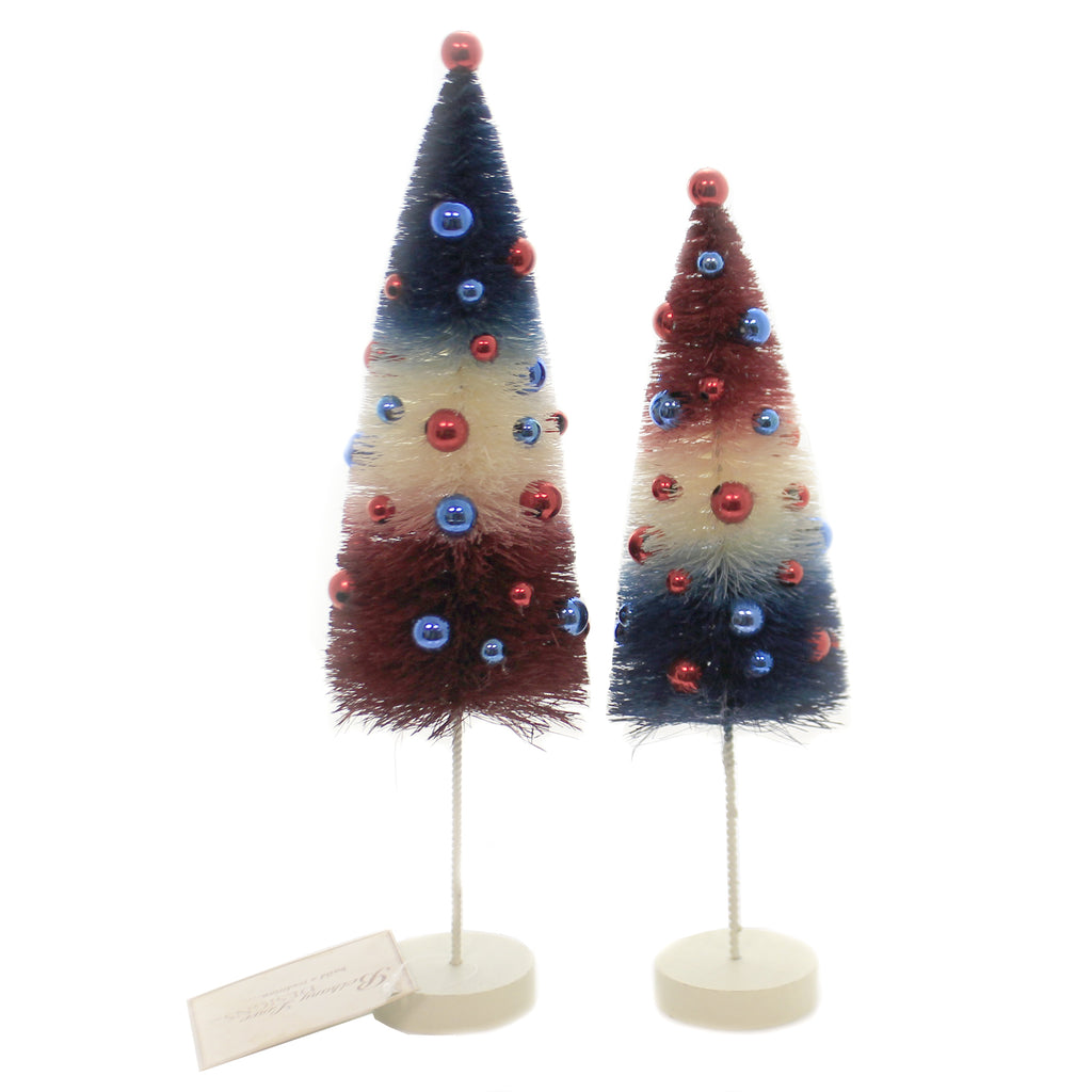 Americana Rocket Bottle Brush Lc9544 Patriotic Bottle Brush Trees And Feather Trees And Tinsel Trees And Decorative Trees - SBKGIFTS.COM - SBK Gifts Christmas Shop Cincinnati - Story Book Kids