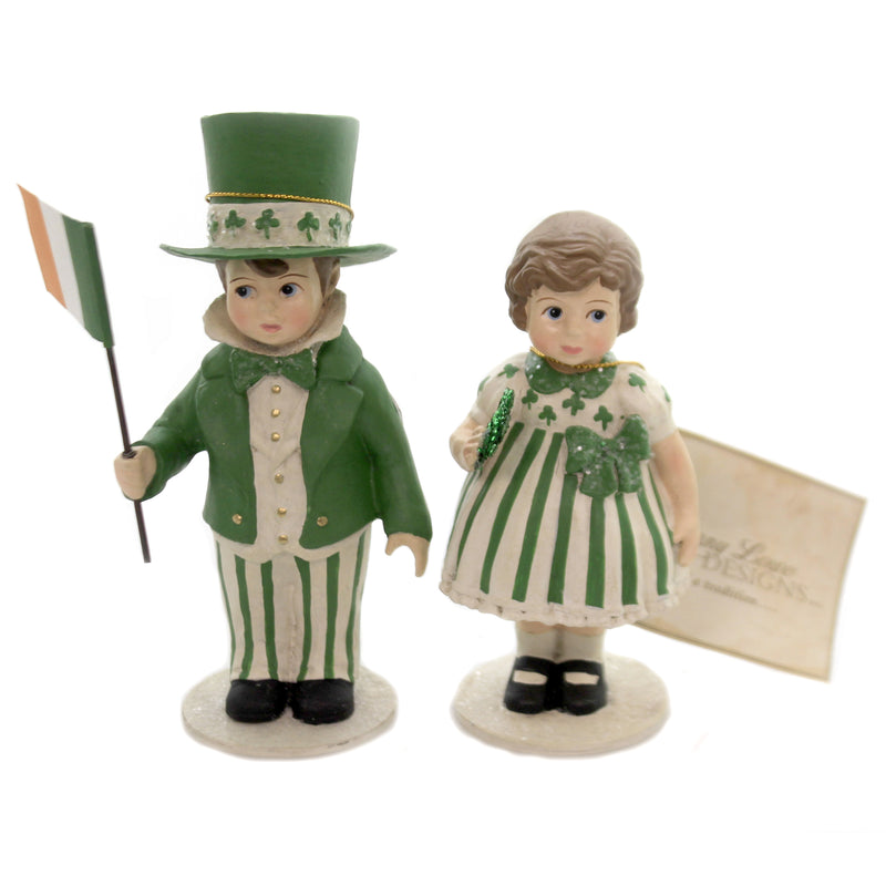 Patrick & Erin Td6018 Saint Patricks Figurines - SBKGIFTS.COM - SBK Gifts Christmas Shop Cincinnati - Story Book Kids