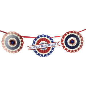America The Beautiful Garland Tf9106 Patriotic Garlands And Tree Trimmings - SBKGIFTS.COM - SBK Gifts Christmas Shop Cincinnati - Story Book Kids