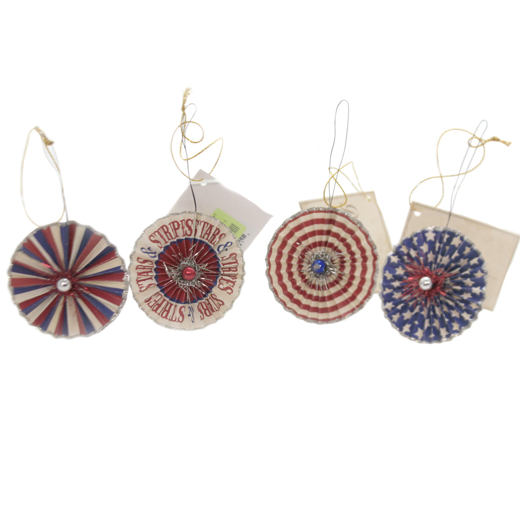 American Rosette Ornament Tl8720 Patriotic Ornament Sets - SBKGIFTS.COM - SBK Gifts Christmas Shop Cincinnati - Story Book Kids