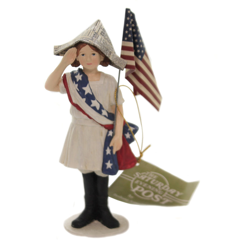 Stars And Stripes Girl Cp9175 Patriotic Figurines - SBKGIFTS.COM - SBK Gifts Christmas Shop Cincinnati - Story Book Kids