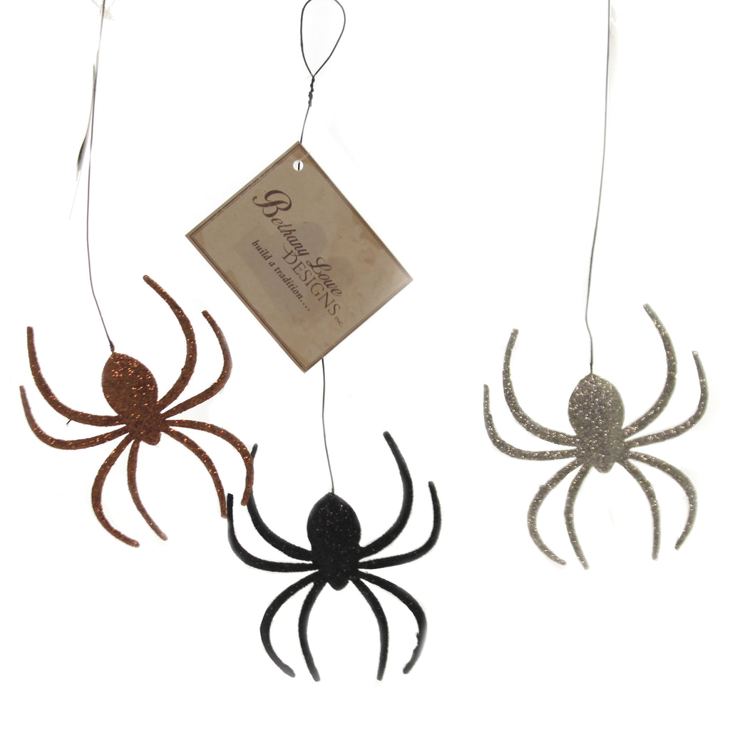 Creepy Crawly Spider Tin Orn Tf8769 Halloween Ornament Sets - SBKGIFTS.COM - SBK Gifts Christmas Shop Cincinnati - Story Book Kids