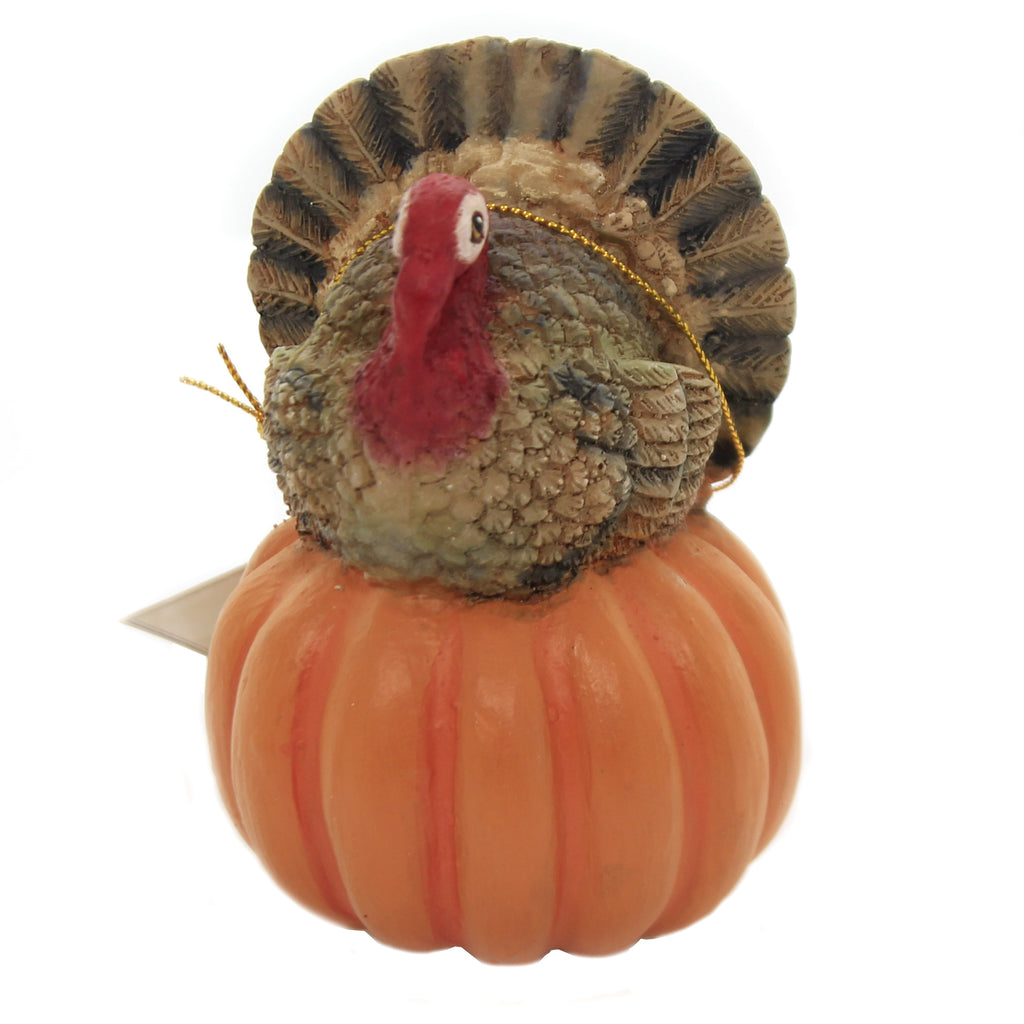 Turkey On Pumpkin Tl8746 Thanksgiving Figurines - SBKGIFTS.COM - SBK Gifts Christmas Shop Cincinnati - Story Book Kids